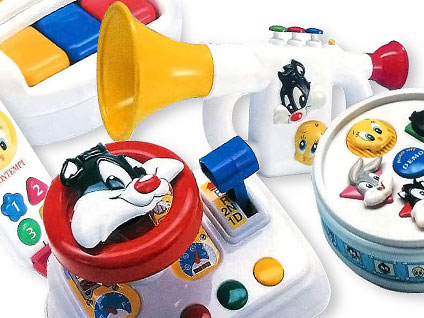 looney tunes instruments toys for Bontempi